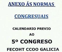 CALENDARIO 5 CONGRESO FECOHT GALICIA