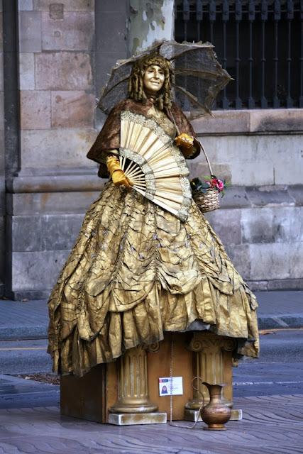 La Rambla Barcelona Living Statues