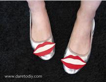 DIY lips ballerinas