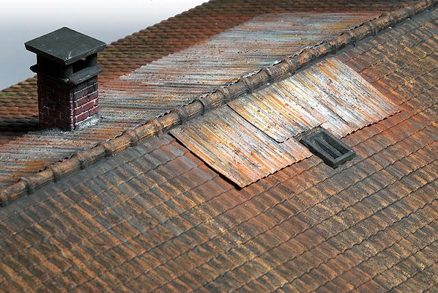 Trainscape tejados de chapa materiales xido y suciedad for Plastico para tejados