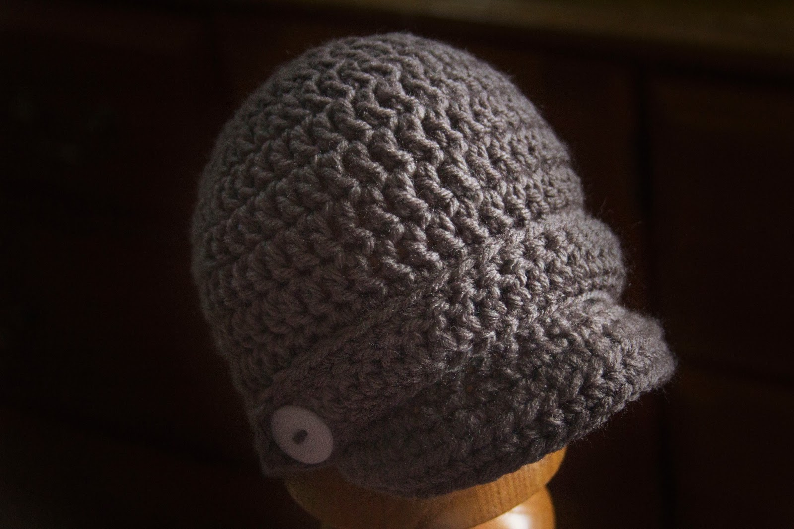 Free Crochet Pattern Beanie With Brim : MNE Crafts: Saturdays FREE Pattern - Brimmed Beanie