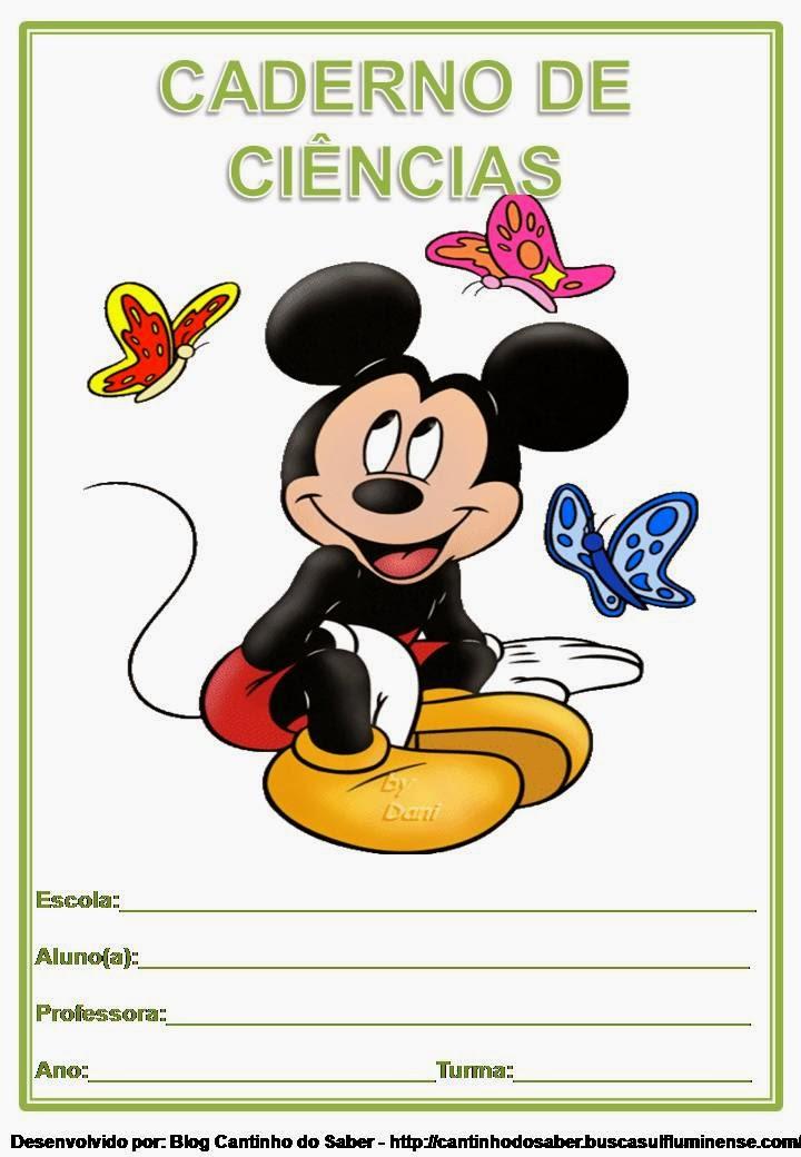 Capa Infantil Para Caderno de Ciências