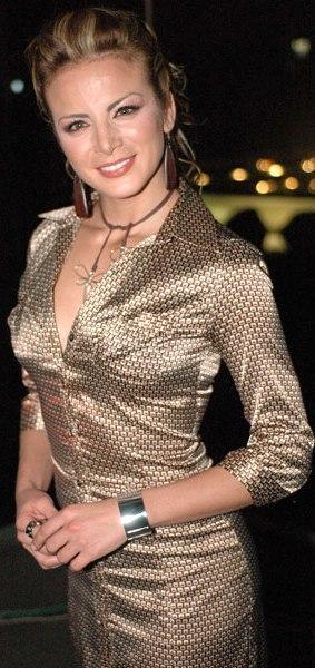 Silvia Navarro con cabello recogido