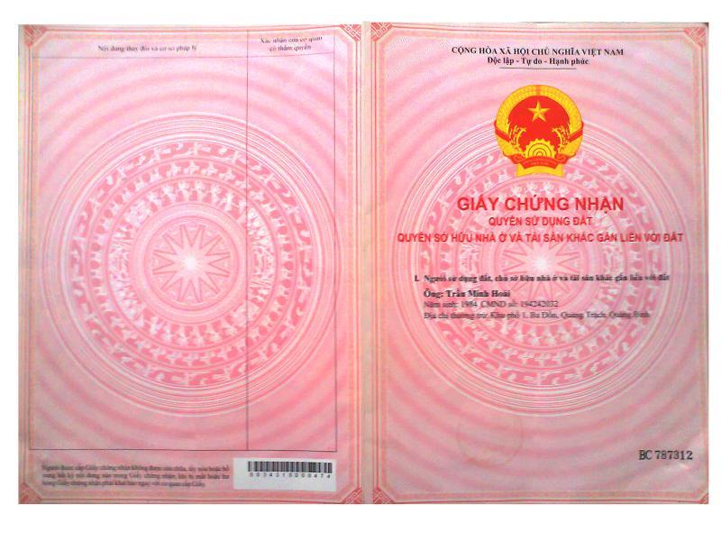 Sổ hồng tách riêng của chung cư mini bên Chủ Đầu Tư Hanoiland