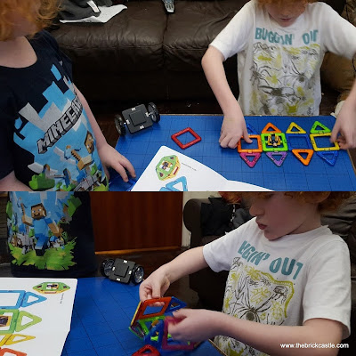 Building 3D shapes with magformers magnetic educational toy