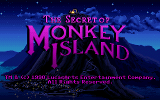 The Secret of Monkey Island title screen VGA PC