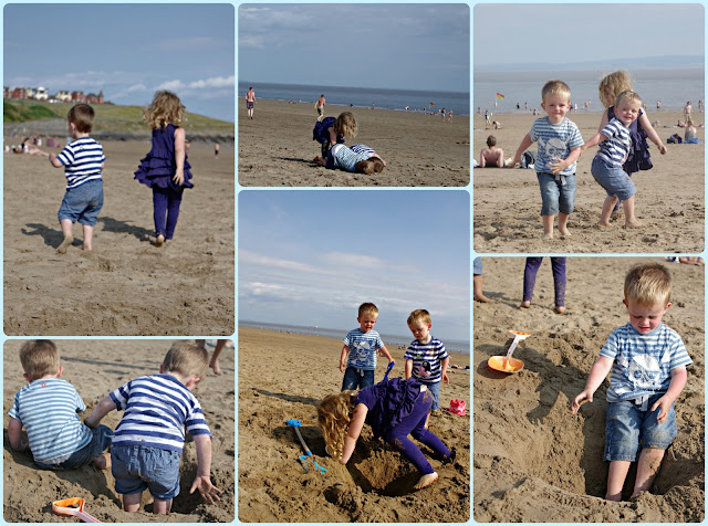 Loving the beach at Barry Island