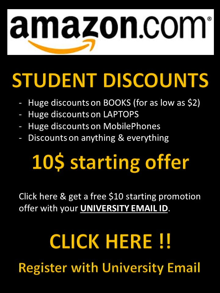 Amazon offer students a 50% discount Get 6 months of free Amazon Prime Student - includes free next day delivery and access to Prime Video, then it'll renew at .