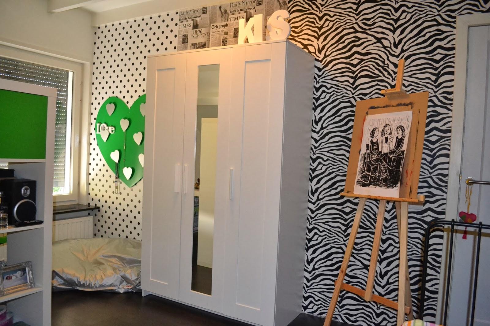 By interieur advies styling recente projecten november 2013 - Behang tienerkamer ...
