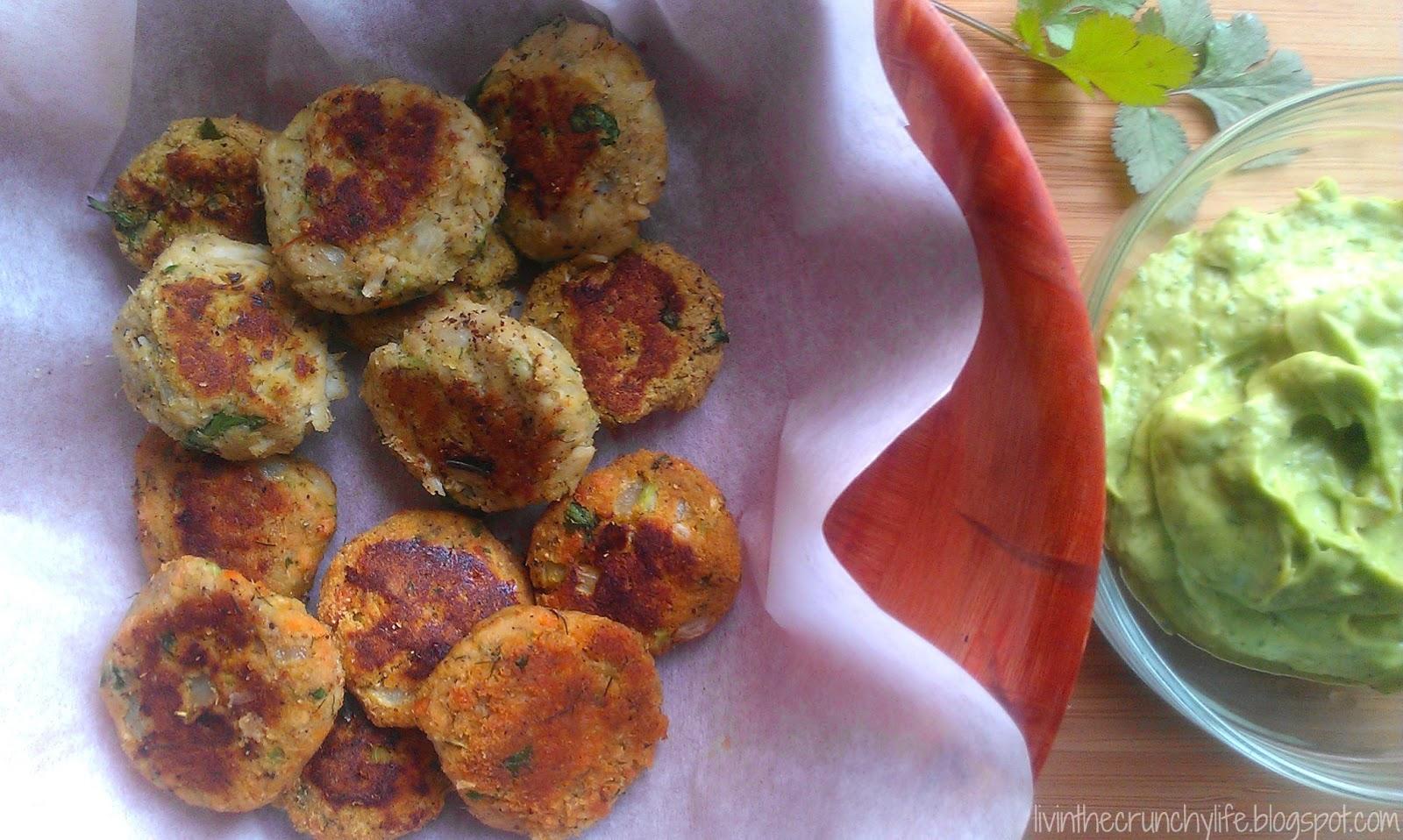 Salmon Cakes with Cilantro Lime Avocado Dip (Paleo, Autoimmune protocol)