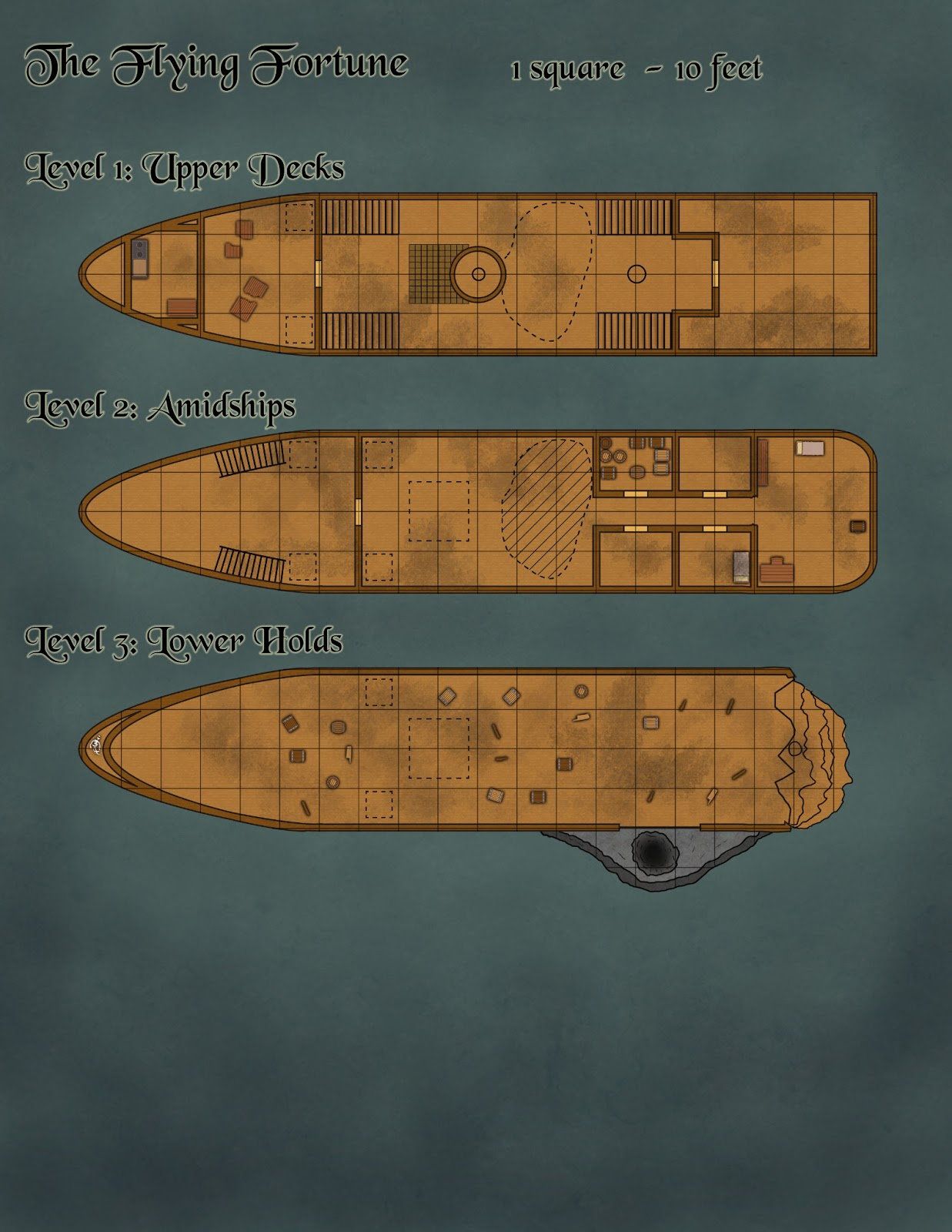 Pirate ship deck plans for Deck blueprints
