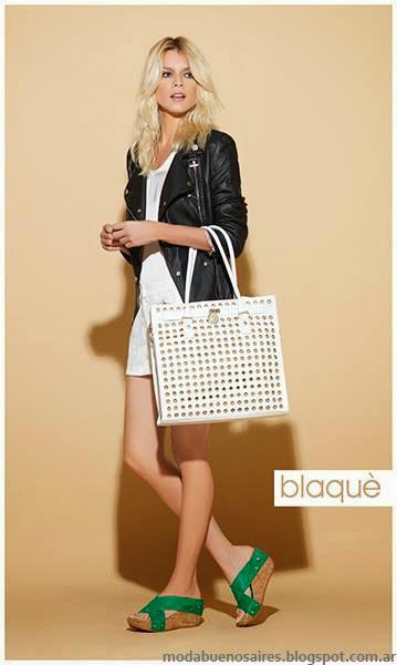 Blaque zapatos bolsos y carteras moda primavera verano 2014.