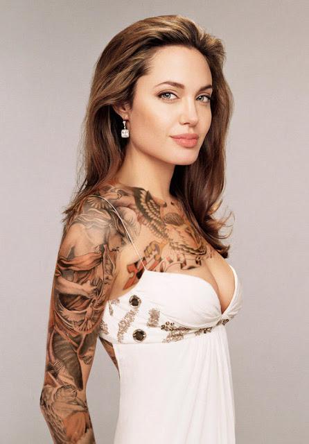 Tattoos Angelina Jolie