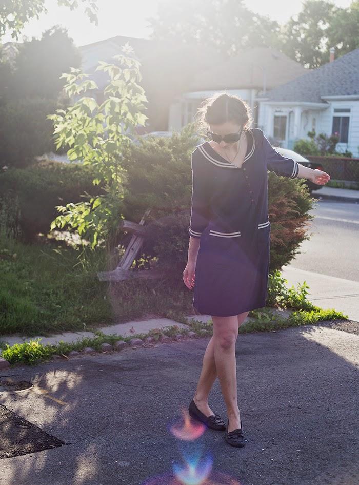 Nautical-shift-dress