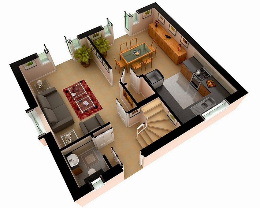 3D Floor Plan Painting 3
