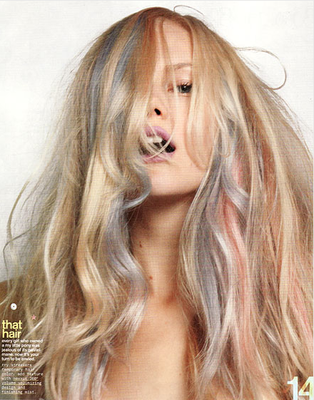 Pastel HairLilac Highlights On Blonde Hair