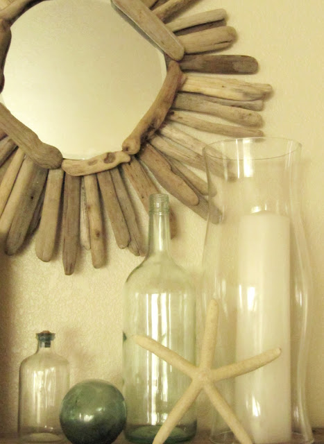 how to make a driftwood mirror the wicker house