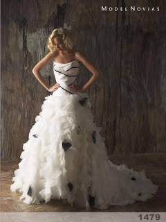 vestidos de noiva branco e preto, vestido de noiva branco e preto, black and white wedding dress
