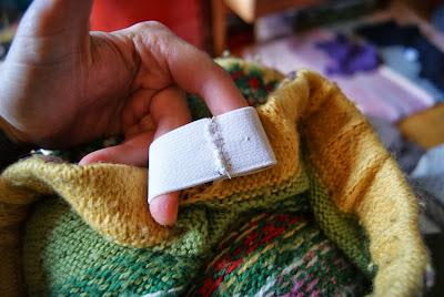 élastique de jupe cousu