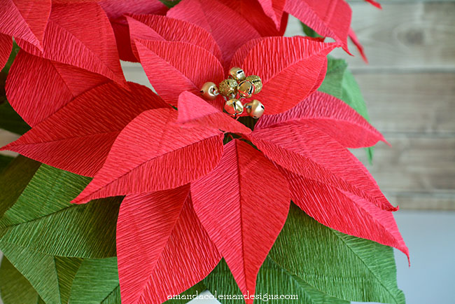 Poinsettia paper flowers image collections flower decoration ideas how to make paper poinsettia flowers image collections flower popper and mimi diy crepe paper poinsettia mightylinksfo