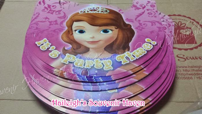 SOFIA THE FIRST GIVEAWAYS AND PARTY SUPPLIES | Haileigh\'s Souvenir Haven