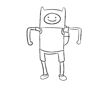 #14 Finn Coloring Page