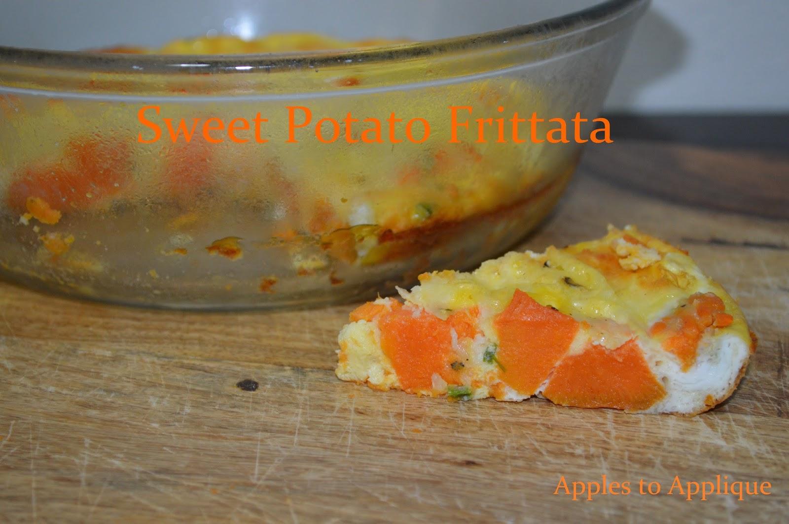 Apples to Applique: Sweet Potato Frittata