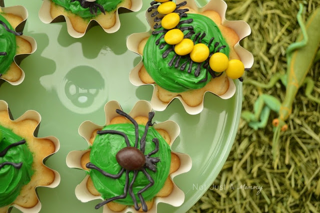 Bug Out Party bug theme cupcake toppers 2