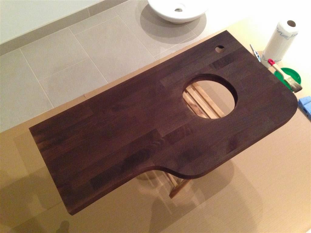 Waschtisch selber bauen arbeitsplatte  Unser Traum vom Haus... wird Wirklichkeit: WC mit selfmade Waschtisch
