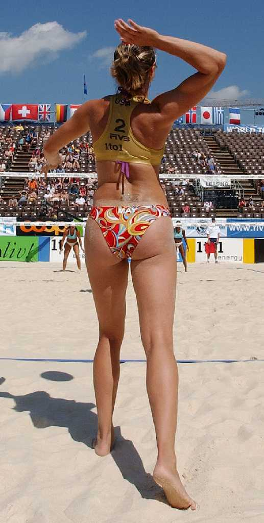 Beach volleyball ass bikini