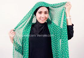 cara memakai hijab pashmina praktis 1