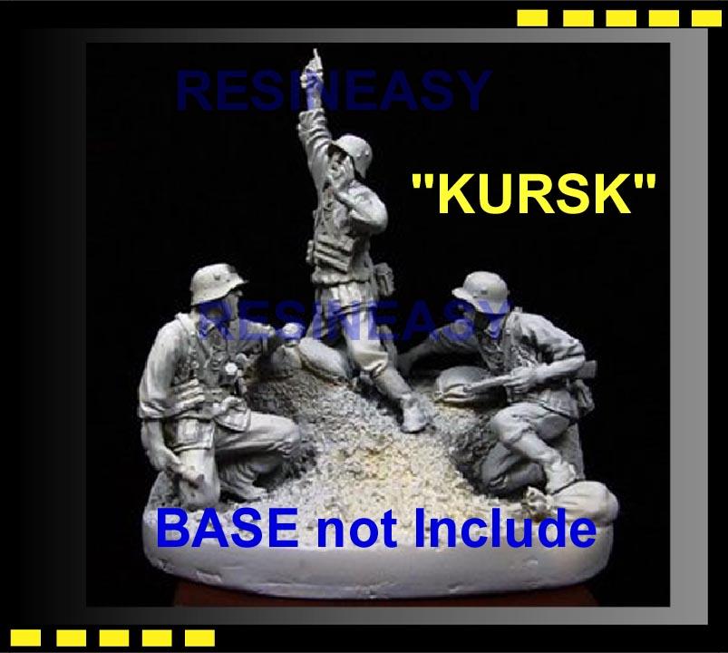 3 Figure Set 1//35 Warriors Kursk Resin Base and Figures