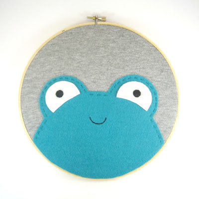 Smiley Face Embroidery Hoop