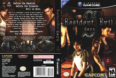 Resident Evil Zero GameCube DVD Capa