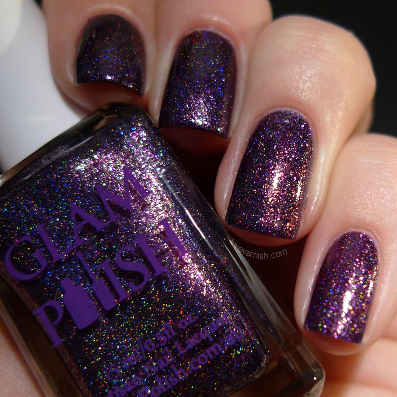 Glam Polish Legendary purple shimmer holographic