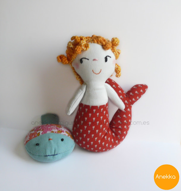 fish and mermaid unique doll