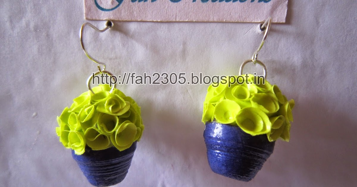 Fah creations handmade jewelry paper quilling flower for Handmade paper creations