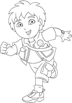 Desenho de Go Diego Go para colorir