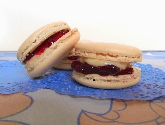 Bakewell Tart Style Macarons