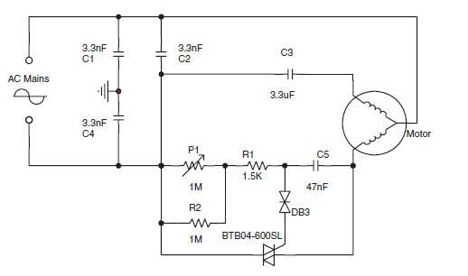 ac motor control circuit