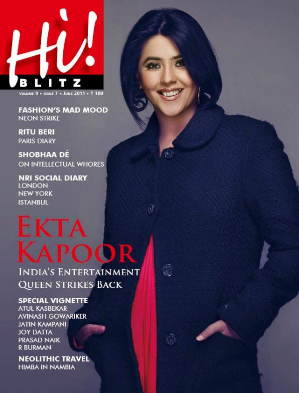 Ekta Kapoor  - Ekta Kapoor On Hi! Blitz Magazine Cover June 2011 Edition