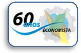 Logo comemorativa aos 60 anos de regulamentação da profissão de economista no Brasil