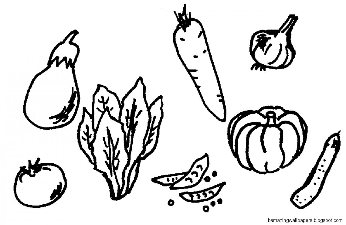 Fruit And Vegetable Clipart Black And White  Clipart Panda   Free