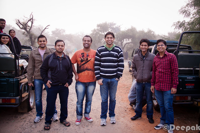 After a lot of discussions and planning, our team finally decided to go to Sariska Tiger Reserve for the annual team trip in the first week of November. We were a group of ~22 people including team mates, their spouses and kids. We started around 8 A.M. in the morning and let's check out the Photo Journey to know more about this trip & Kikar.Our first halt was at Haldiram's for breakfast. Kids were more than happy to finally get off the bus for breakfast.We played dumb charades, 10 questions etc games in the bus while traveling. Can you guess the movie name which Vikram is trying to tell? ...Its