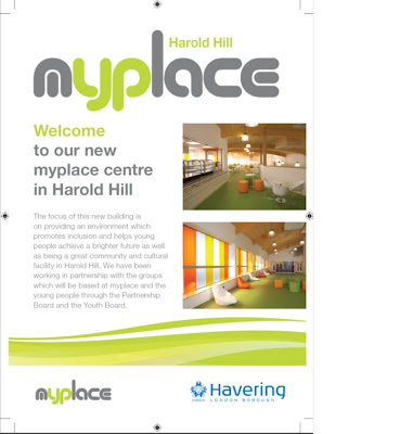 Description and photos of the myplace centre in Harold Hill, Essex