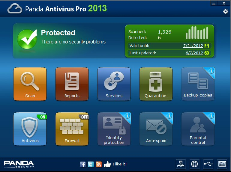 While the free Panda Cloud Antivirus Free, no annoying ads. You can