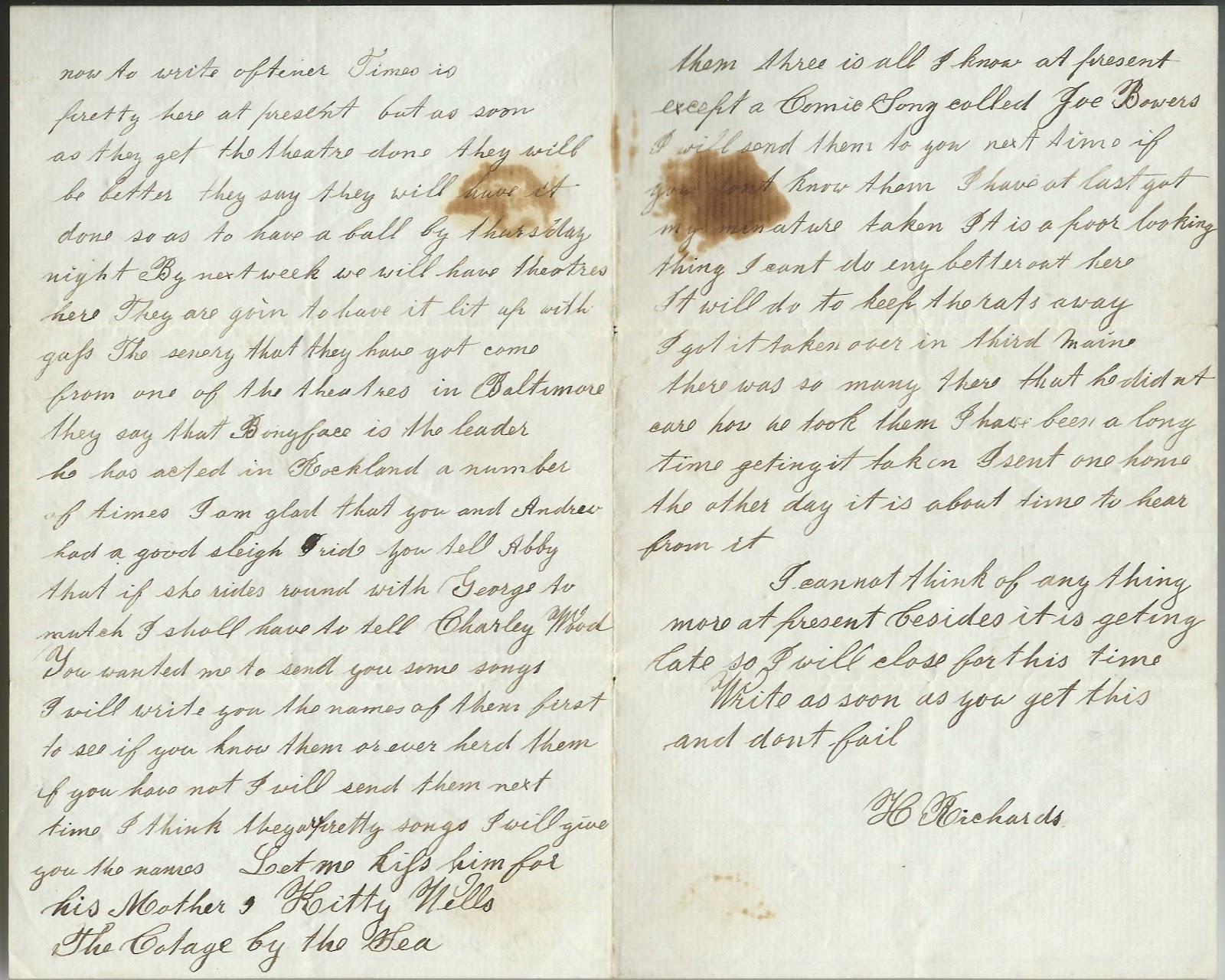 1862 letter from horatio richards of rockland maine then at once more with pleasure i seat myself to pen you a few lines to let you know that i have not forgotten to write yet although aljukfo Image collections