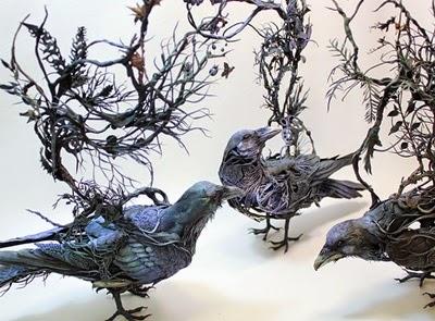 Unique Clay And Wire Sculpture