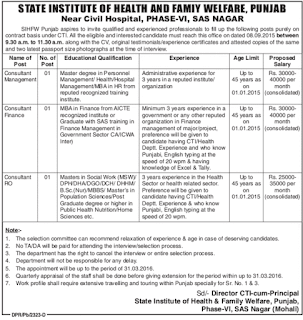 SIHFW Punjab Recruitment 2015