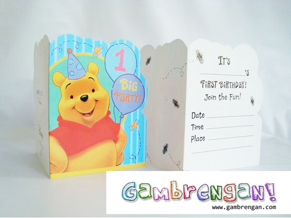 Birthday Invitation Rp. 30.000 isi 8